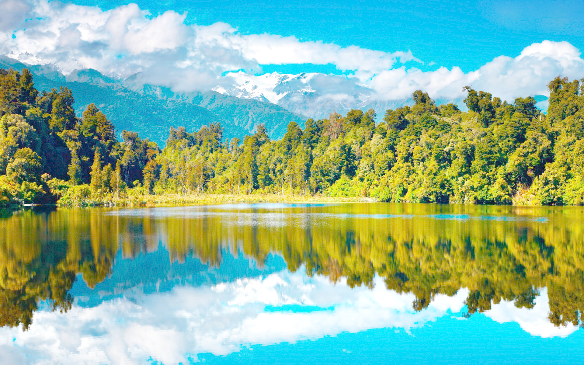 Fall Lake glare